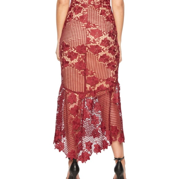 Bardot Dresses   Nwt Bardot Lucy Lace Boysenberry Midi